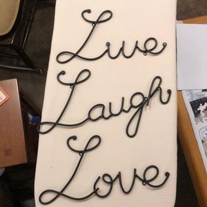 Live Laugh and Love words